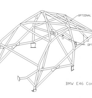 Custom Cages  BMW E46 Compact – International Multipoint Weld in Kit
