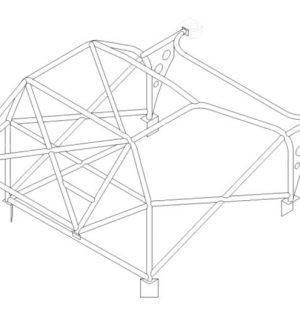 Custom Cages Honda Integra 'R' DC2 – Multipoint Weld in Kit